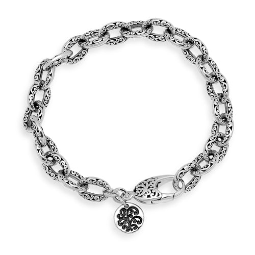 Classic Signature Scroll Small Link Bracelet