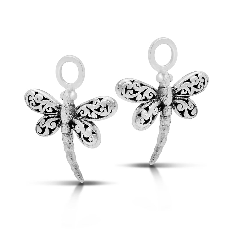 Dragonfly LH Scroll Earrings Charm (13mm * 15mm)