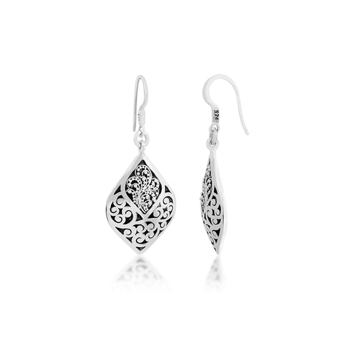 Classic Signature Scroll Drop Earrings
