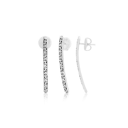 Signature Cutout Scroll Long Stick Studs