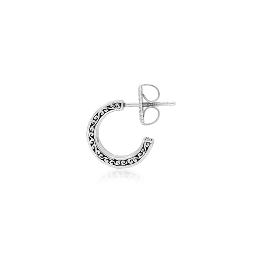 Small Signature Scroll Double Hoop Earrings