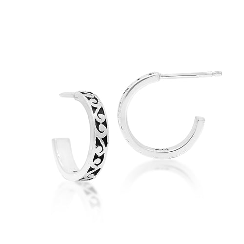 Small Cutout Hoop Earrings - Lois Hill Jewelry