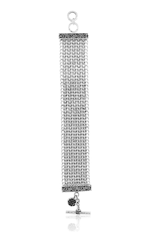 Chainmail Bracelet with Classic Signature Granulation Scroll ends