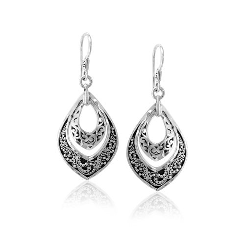 Classic Signature Scroll Double Drop Earrings