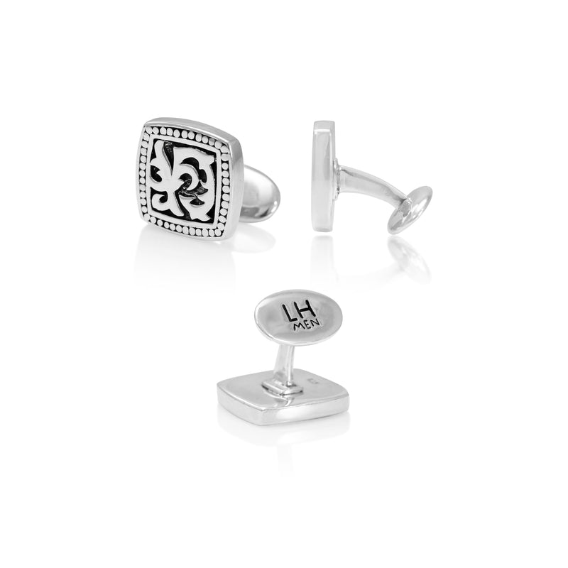 Classic Square LH Tribal Scroll Cufflinks