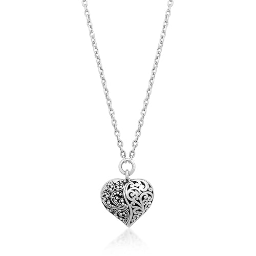 Classic Ying Yang Heart Pendant Necklace - Lois Hill Jewelry