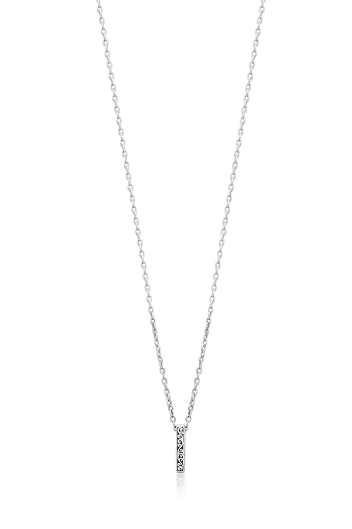 Delicate Signature Scroll Small Sliding Bar Pendant