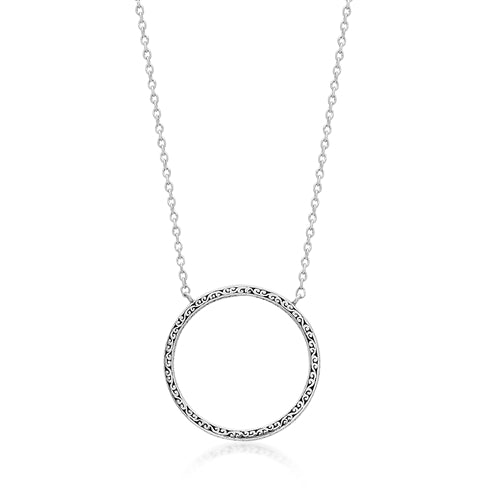 Signature Scroll Round Statement Pendant
