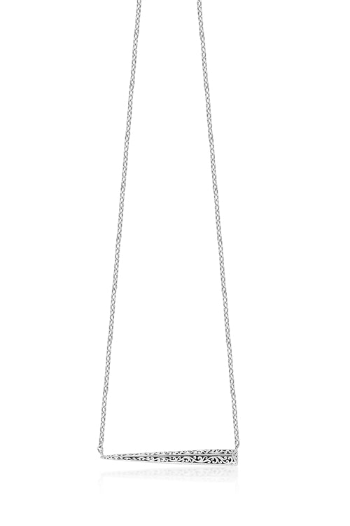 Signature Scroll Horizontal Pyramid Bar Pendant