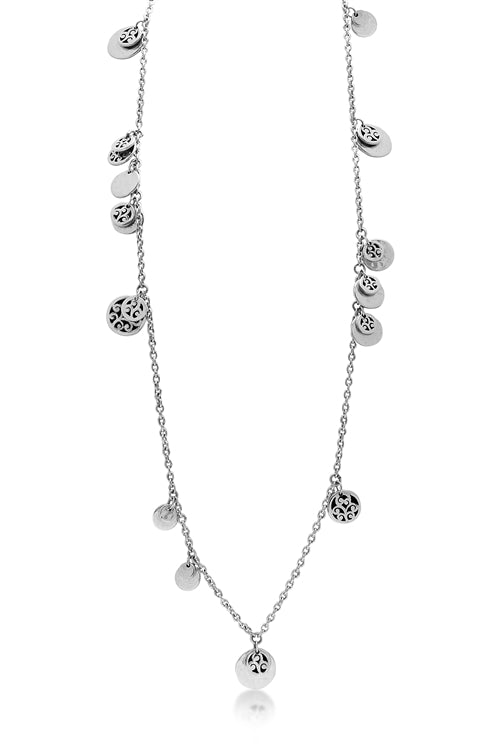 "38"" Necklace w/Cutout Disk Charms"