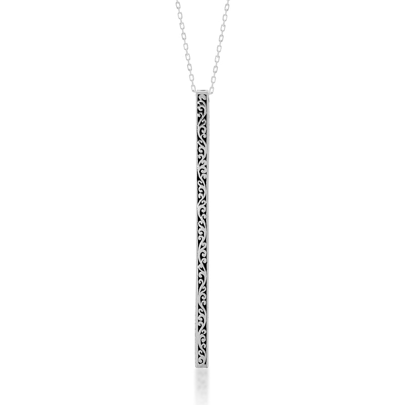 Edgy & Classic Vertical Stick Pendant Necklace - Lois Hill Jewelry