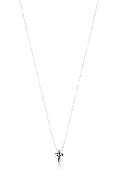 Mini Cutout Cross Necklace - Lois Hill Jewelry