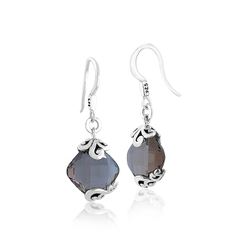 Signature Open Scroll Smoky Quartz Earrings - Lois Hill Jewelry
