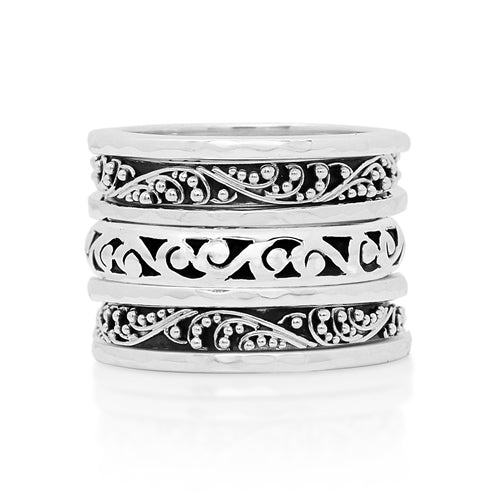 Classic 7 Stack Ring Set - Lois Hill Jewelry