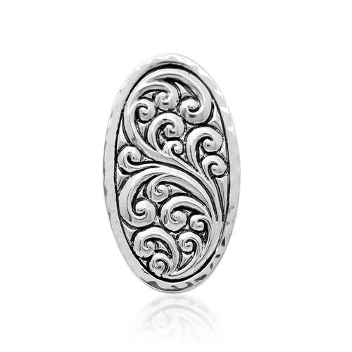 Repousse Oval Ring