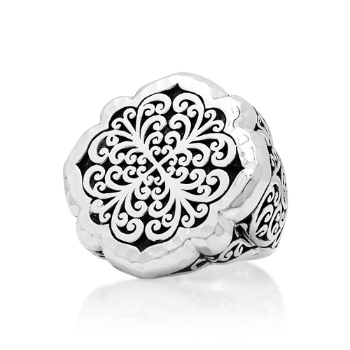 Geometric Scroll Ring