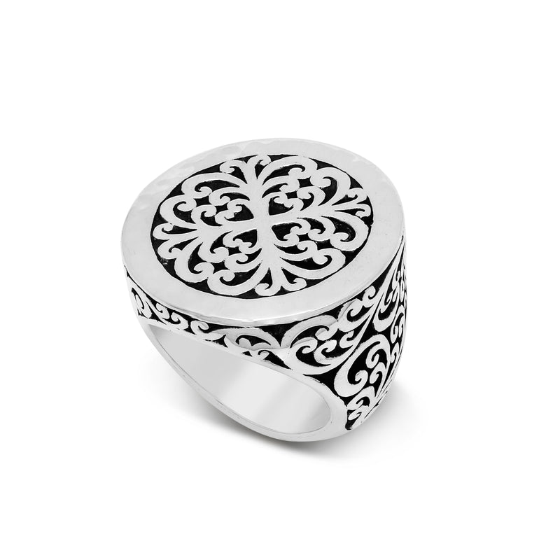 Round Geometry Signature Scroll Ring - Lois Hill Jewelry