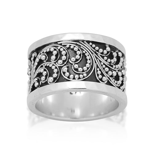 Classic Granulated Cigar Band - Lois Hill Jewelry