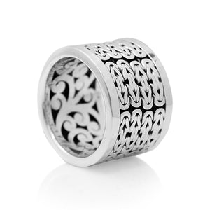 Classic Box Weave Cigar Band - Lois Hill Jewelry