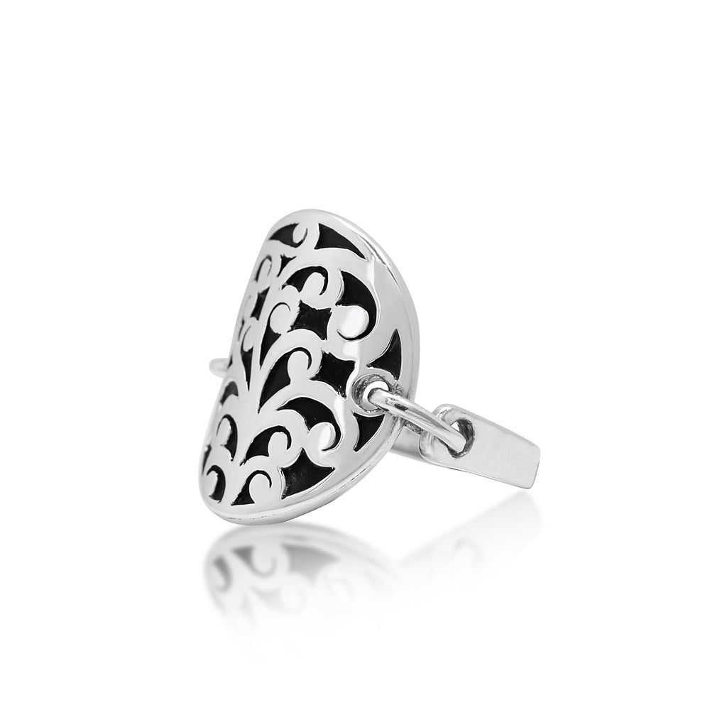 Circle Scroll Cutout Ring - Lois Hill Jewelry