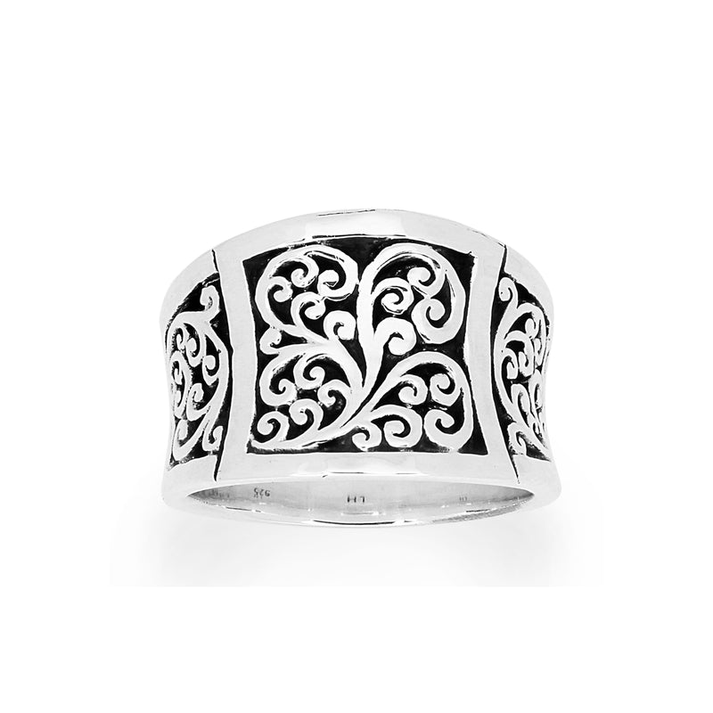 Classic Signature Scroll  Ring - Lois Hill Jewelry