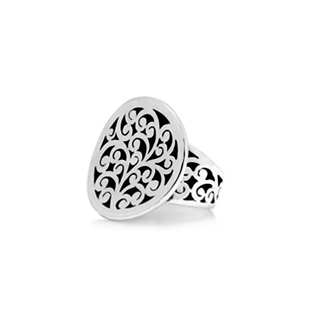 Classic Concave Small Round Cutout Ring - Lois Hill Jewelry
