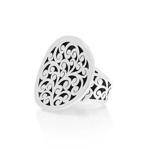Classic Concave Round Cutout Ring