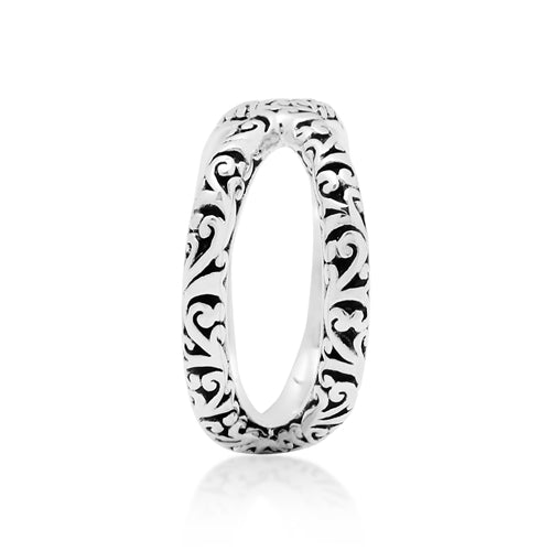 Handcrafted Scroll CrissCross Ring