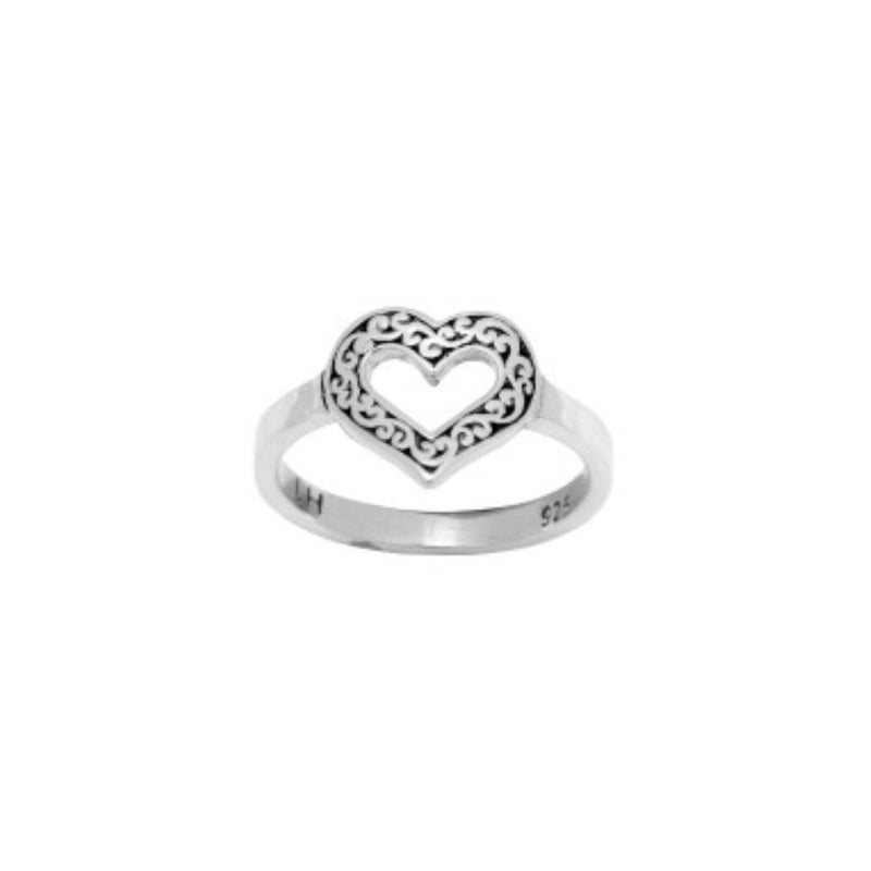 Classic Signature Scroll Heart-Shape Ring - Lois Hill Jewelry
