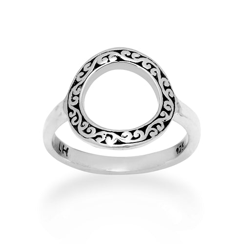 Open Circle Carved Ring