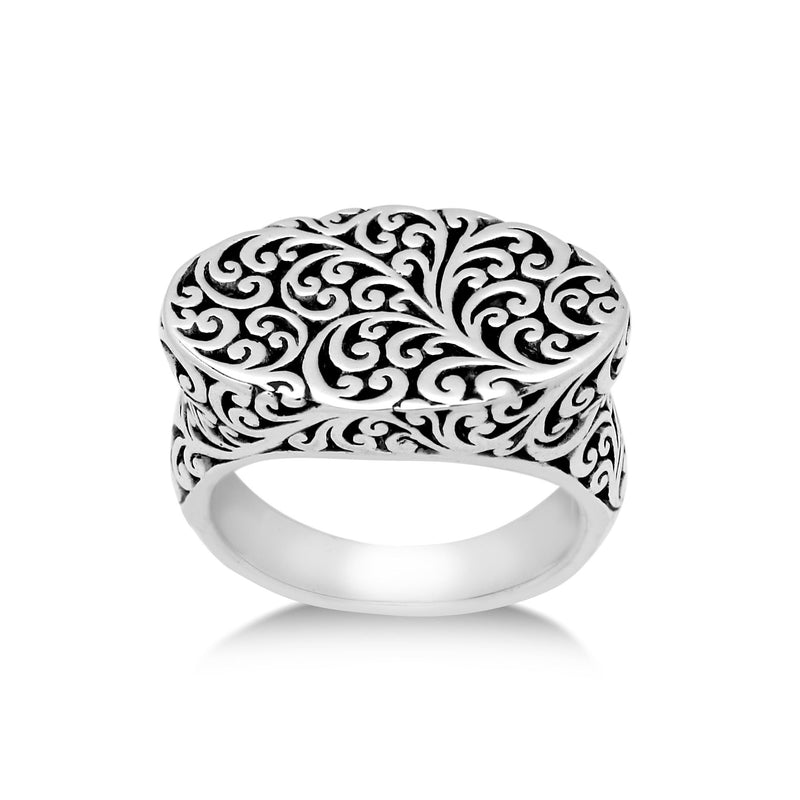 Cutout Scroll Oval Ring - Lois Hill Jewelry
