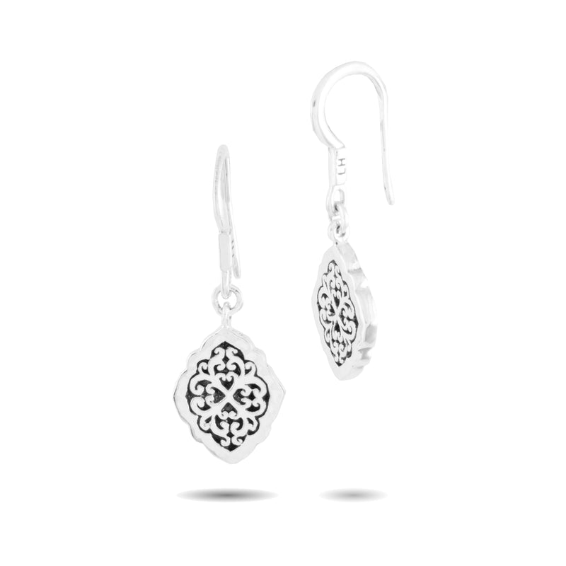 Classic Marquise Geometric Scroll Fishook Earrings