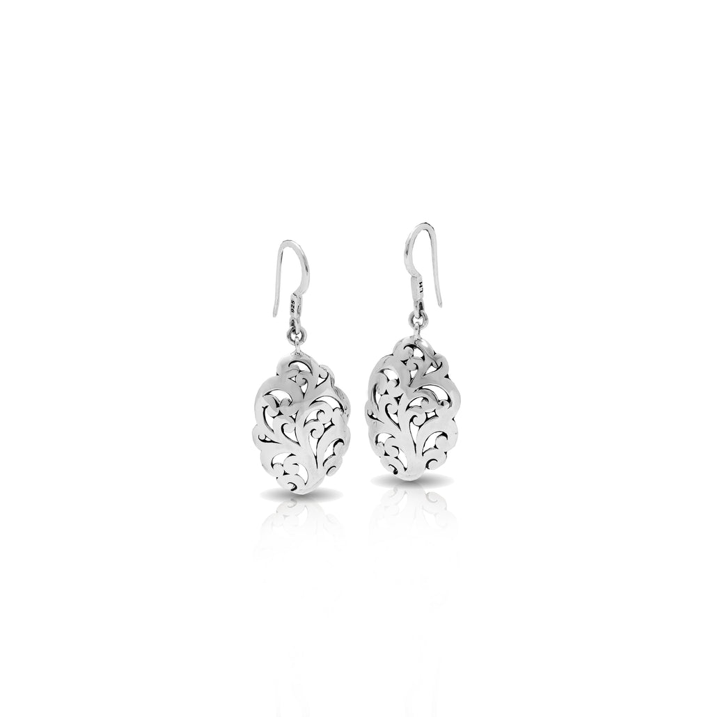 Classic Signature Open Scroll Fishook Earrings