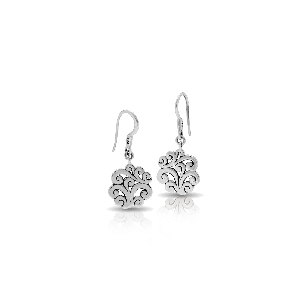 Small Classic Signature Open Scroll Fishook Earrings