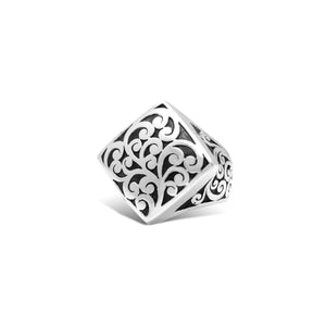Classic Signature Scroll Diamond-Shaped Ring