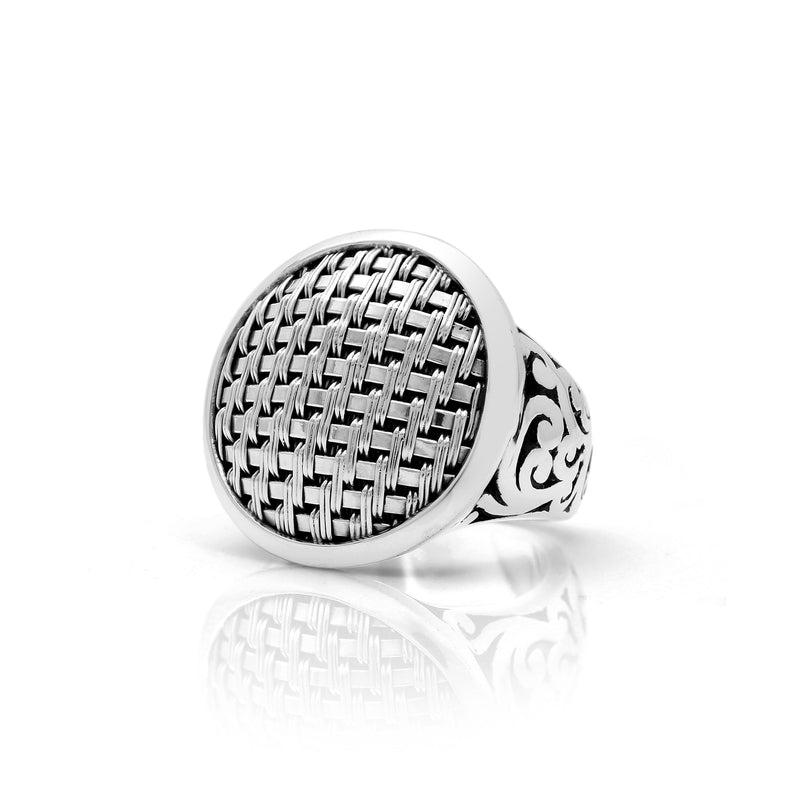 Classic Round (24mm) Woven with Signature Scroll Ring.