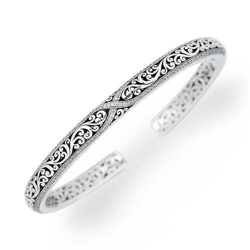 Criss-Cross Diamond Cuff