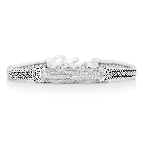 Diamond ID Bracelet - Lois Hill Jewelry
