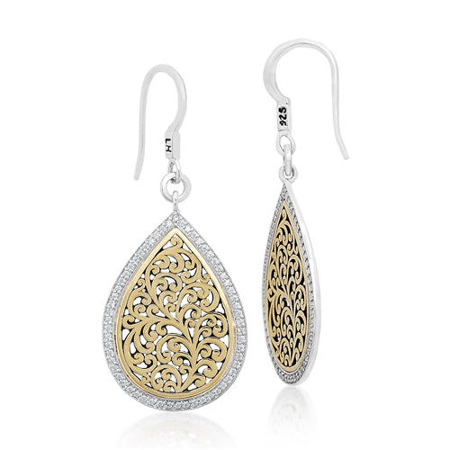 Teardrop 18K Gold & Diamond Earrings
