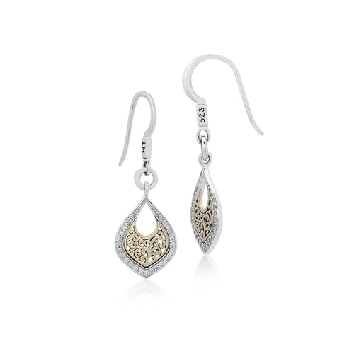 Open Lace Bulb Scroll Earrings