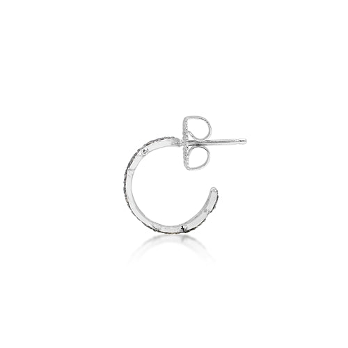 Brown Diamonds, Open Scroll Small Hoops - Lois Hill Jewelry