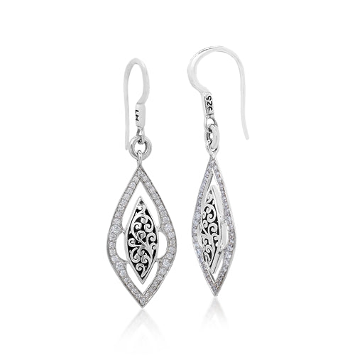 Long Open Marquise Diamond Earrings - Lois Hill Jewelry