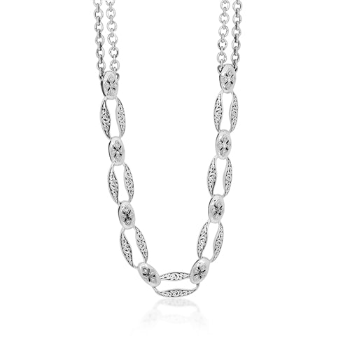 Diamond Link Necklace - Lois Hill Jewelry