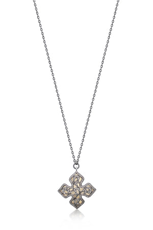 Brown Diamond & 18k Gold Cross Necklace - Lois Hill Jewelry