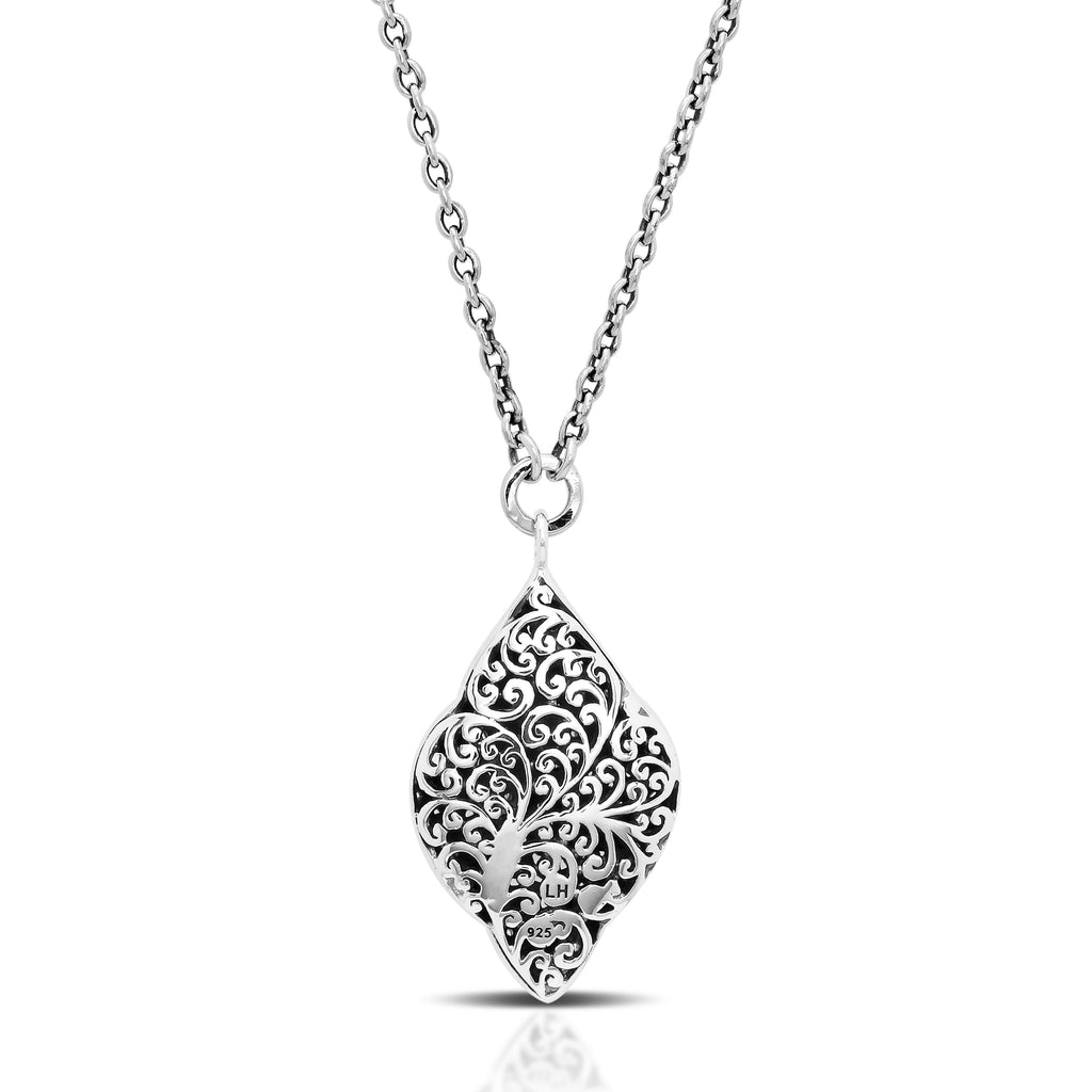 Open Scroll Diamond Pendant Necklace