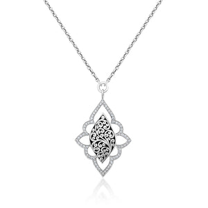 Classic Diamond and Scroll Necklace