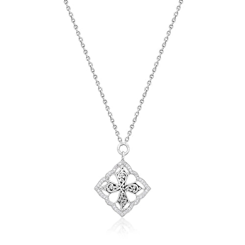 Classic Maltese Diamond Cross - Lois Hill Jewelry