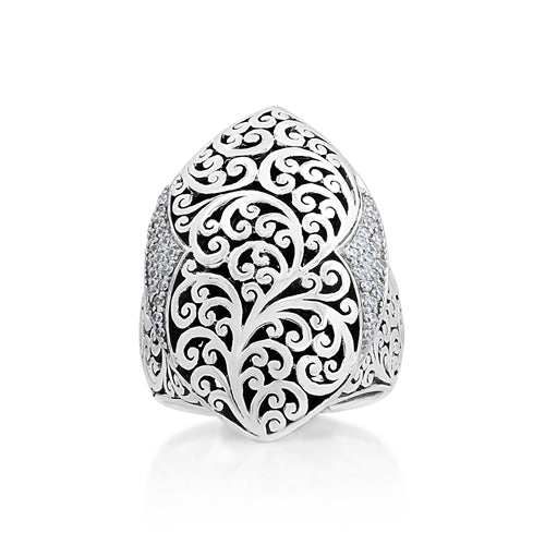 Classic Diamond Cutout Ring