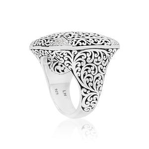 Rectangular Cutout Ring with Diamond Accents - Lois Hill Jewelry