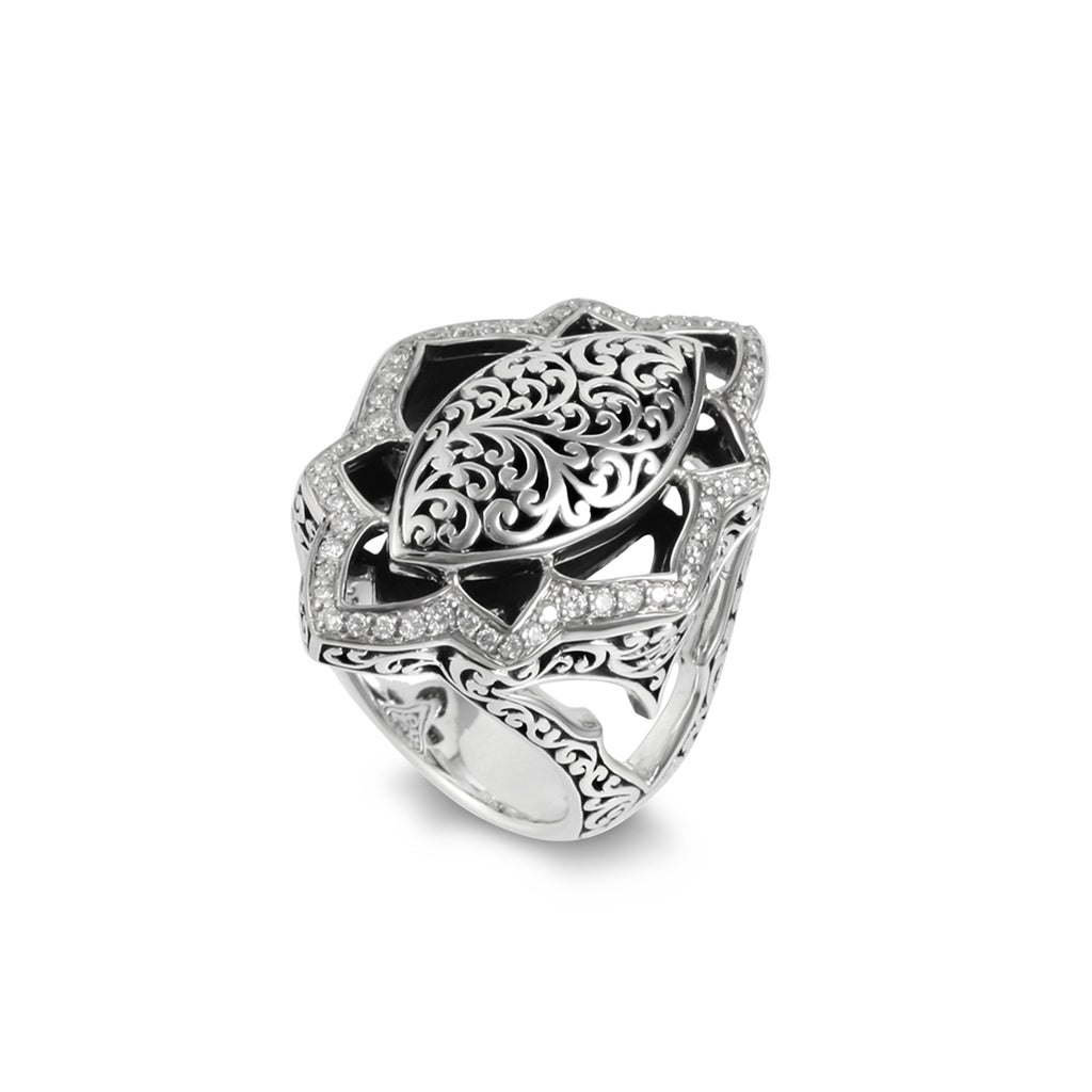 Classic Diamond Cutout Ring - Lois Hill Jewelry